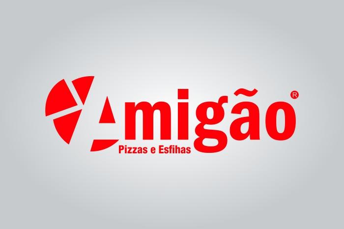 Logo Amigão Pizzas e Esfihas